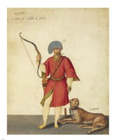 An Azappo Archer with a Cheetah Fine-Art Print
