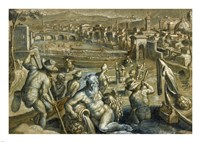 The Arno with Fishermen Fine-Art Print