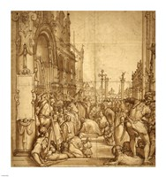 The Submission of the Emperor Frederick Barbarossa to Pope Alexander III Fine-Art Print