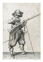 A Soldier on Guard Blowing Out a Match Fine-Art Print