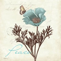 Touch of Blue I - Peace Fine-Art Print