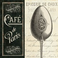 French Menu I Fine-Art Print