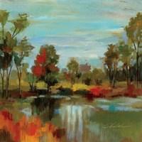 Hidden Pond Hues I Fine-Art Print
