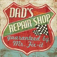 Mancave IV - Dads Repair Shop Fine-Art Print