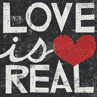 Love Is Real Grunge Square Fine-Art Print