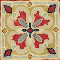 Bohemian Rooster Tile Square III Fine-Art Print