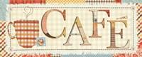 Patchwork Cafe I Fine-Art Print