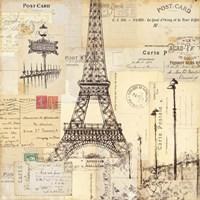 Paris Collage II Fine-Art Print