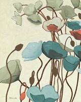 Blue Pavots Ondule I Fine-Art Print