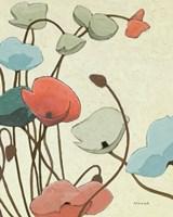 Blue Pavots Ondule II Fine-Art Print