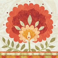 Ikat Bloom II Fine-Art Print
