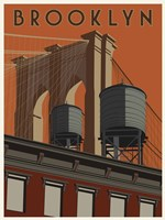 Brooklyn Travel Poster Fine-Art Print