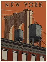 New York Travel Poster Fine-Art Print