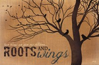 Roots and Wings - quote Fine-Art Print