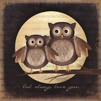 Owl Always Love You - Pair of Owls Fine-Art Print