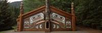Facade of a Clan House, Totem Bight State Historical Park, Ketchikan, Alaska, USA Fine-Art Print