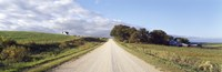 Dirt road leading to a church, Iowa, USA Fine-Art Print
