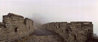 Fortified wall in fog, Great Wall of China, Mutianyu, Huairou County, China Fine-Art Print