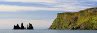 Basalt rock formations in the sea, Vik, Iceland Fine-Art Print