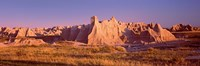 Rock formations in a desert, Badlands National Park, South Dakota, USA Fine-Art Print