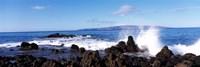 Waves breaking on the rocks, Makena Beach, Maui, Hawaii, USA Fine-Art Print