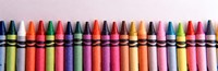 Close-up of assorted wax crayons Fine-Art Print