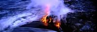 Lava flowing from a volcano, Kilauea, Hawaii Volcanoes National Park, Big Island, Hawaii, USA Fine-Art Print