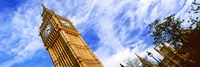 Low angle view of a clock tower, Big Ben, Houses of Parliament, City of Westminster, London, England Fine-Art Print
