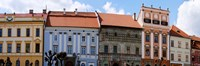 Low angle view of old town houses, Levoca, Slovakia Fine-Art Print