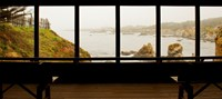 Coastal viewed from a shed at Mendocino Coast Botanical Gardens, Fort Bragg, California, USA Fine-Art Print