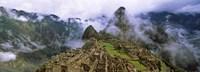 High Angle View of Machu Picchu, Peru Fine-Art Print