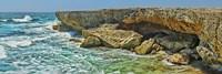 Rock formations at the coast, Aruba Fine-Art Print