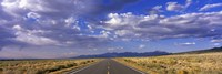 US Highway 160 through Great Sand Dunes National Park and Preserve, Colorado, USA Fine-Art Print