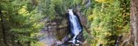 Waterfall in a forest, Miners Falls, Rocks National Lakeshore, Upper Peninsula, Michigan, USA Fine-Art Print