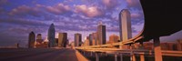 Dallas Skyscrapers ( Purple Sky) Fine-Art Print