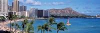 Waikiki Beach, Honolulu, Hawaii, USA Fine-Art Print