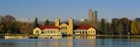 Buildings at the waterfront, City Park Pavilion, Denver, Colorado, USA Fine-Art Print