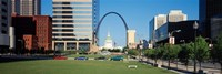Buildings in a city, Gateway Arch, Old Courthouse, St. Louis, Missouri, USA Fine-Art Print