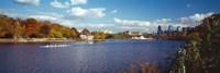 Boat in the river, Schuylkill River, Philadelphia, Pennsylvania, USA Fine-Art Print
