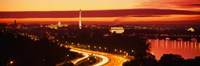 Sunset, Aerial, Washington DC, District Of Columbia, USA Fine-Art Print