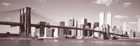 Brooklyn Bridge, Hudson River, NYC, New York City, New York State, USA Fine-Art Print