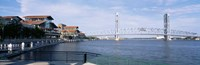 Bridge Over A River, Main Street, St. Johns River, Jacksonville, Florida, USA Fine-Art Print