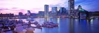 Sunset, Inner Harbor, Baltimore, Maryland, USA Fine-Art Print
