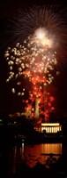 USA, Washington DC, Fireworks over Lincoln Memorial Fine-Art Print