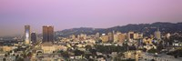 High angle view of a cityscape, Hollywood Hills, City of Los Angeles, California, USA Fine-Art Print