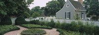 Building in a garden, Williamsburg, Virginia, USA Fine-Art Print