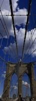 Low angle view of a bridge, Brooklyn Bridge, Manhattan (color, vertical) Fine-Art Print