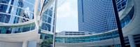 Low angle view of skyscrapers, Enron Center, Houston, Texas, USA Fine-Art Print