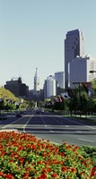 Buildings in a city, Benjamin Franklin Parkway, Philadelphia, Pennsylvania, USA Fine-Art Print