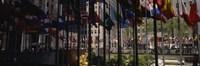 Flags in a row, Rockefeller Plaza, Manhattan, New York City, New York State, USA Fine-Art Print